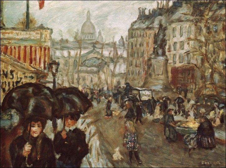 Quel artiste post-impressionniste, du mouvement nabi, également graveur, dessinateur et illustrateur, a peint  La Place Clichy et le Sacré-Coeur  ?