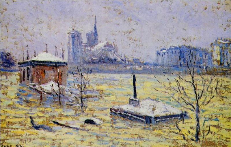 L'inondation  (1910). A quel peintre pointilliste français doit-on ce témoignage de la grande inondation de Paris en 1910 ?