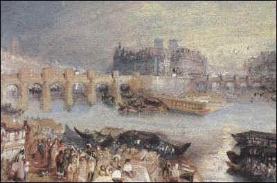 Quel artiste anglais surnommé  le peintre de la lumière  a réalisé  Le Pont Neuf et le Vert Galant  vers 1833 ?