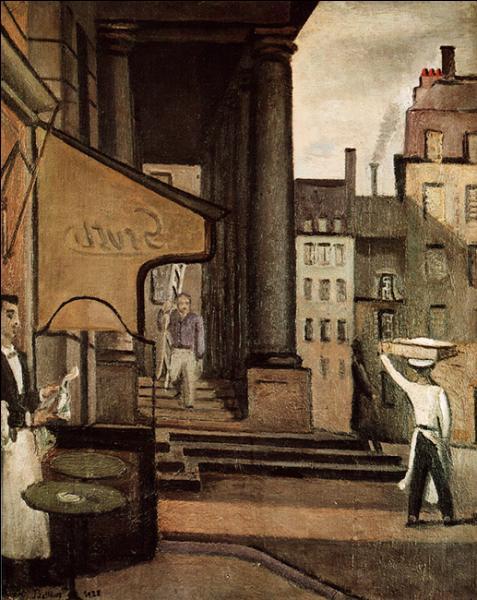 Peintre figuratif d'origine polonaise, il est l'auteur de  Place de l'Odéon  (1938). Qui est cet artiste ?