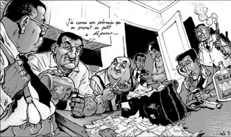 Il est classé 36e, c'est un film sorti en 1963 de Georges Lautner, avec Lino Ventura, Bernard Blier, Francis Blanche, Claude Rich. Je ne préciserais que le prénom de l'auteur des dialogues. Ils sont de Michel ... ! C'est un des derniers grands films en noir et blanc.Quel est ce film ?