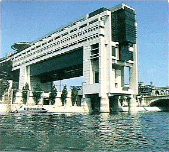 Qu'y avait-il principalement sur le site avant la construction des bâtiments actuels du Ministère des Finances ?
