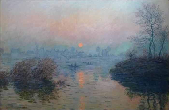 Qui a peint Soleil couchant sur la Seine effet d'hiver ?