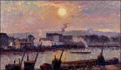 Qui a peint Quai de la Bourse à Rouen soleil couchant ?