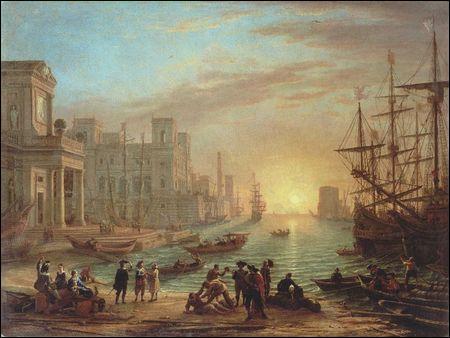 Qui a peint Port de mer au soleil couchant ?