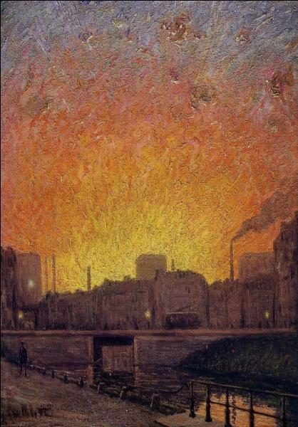 Qui a peint Canal à Gand essai de soleil couchant ?