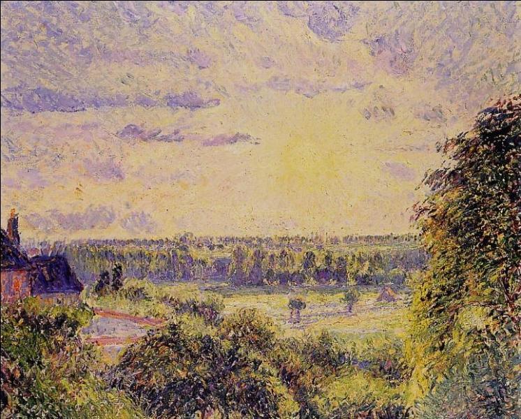 Qui a peint Soleil couchant à Eragny ?
