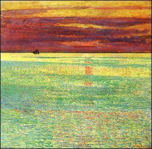 Qui a peint Coucher de soleil sur la mer ?
