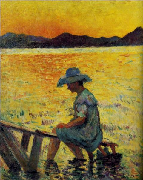Qui a peint Saint-Tropez coucher de soleil ?