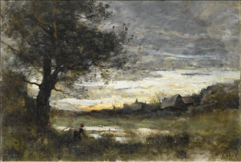 Qui a peint Souvenir de Normandie Soleil couchant ?