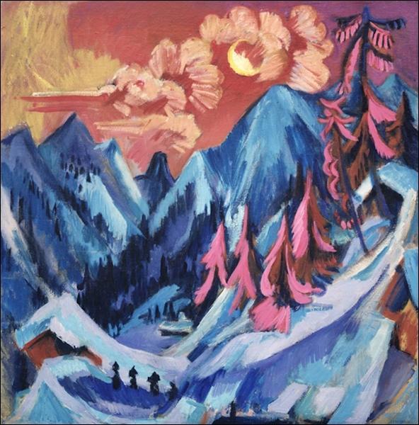 Qui a peint Coucher de soleil en montagne ?