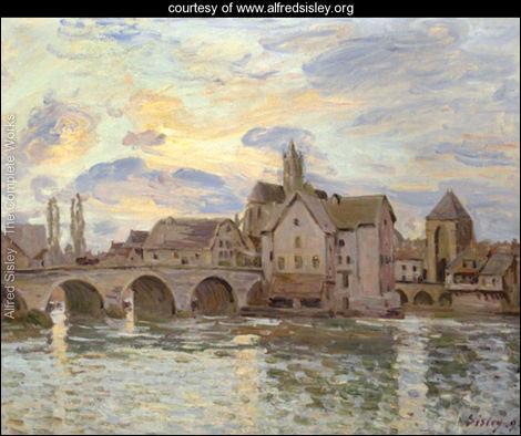 Qui a peint Le pont de Moret au soleil couchant ?