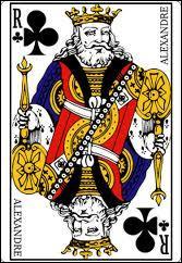 Quel est le prénom inscrit sur la carte du roi de trèfle ?