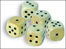 Quel jeu se joue avec 5 dés ?