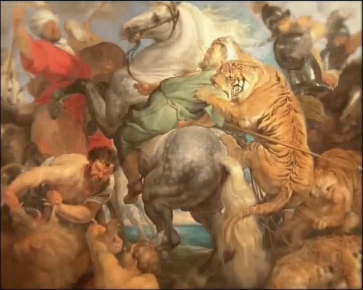 Qui a peint le tableau :  La chasse au tigre  ?