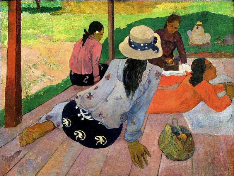 Qui a peint  La sieste , paysage tahitien ?