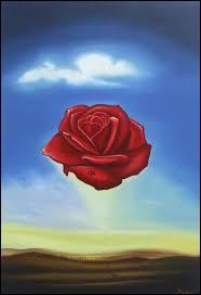 La rose méditative est une toile de Salvador Dali, c'est une peinture :