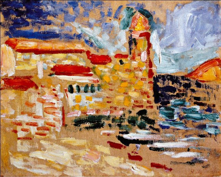 Qui fut le chef de file du fauvisme, dont voici présentée une toile représentant Collioure ?