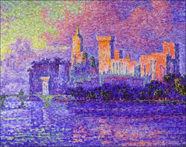 Il fut le précurseur du pointillisme avec Georges Seurat, et a peint  Le palais des papes  :