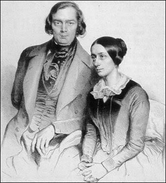 Clara Wieck était la fille d'un grand professeur de piano; elle épousa, contre son avis d'ailleurs, un grand musicien allemand, élève aussi de son père. Lequel ?