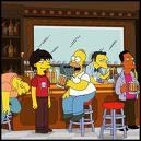 Où se trouve Homer sur cette photo ?