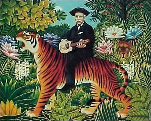 Quel peintre naïf, appelé aussi  le douanier  a peint ce tigre ?