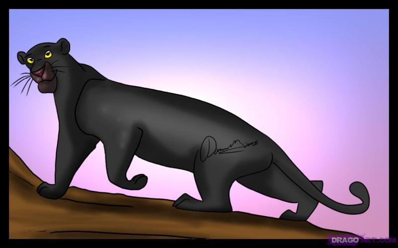 Dans  Le livre de la jungle , comment s'appelle la panthère ?