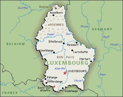 luxembourg geographie
