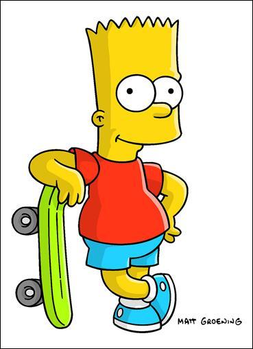Regardez-le en train de frimer avec son sket ! C'est le fils Simpson son nom est :