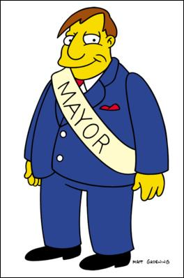 Le maire de Springfield son nom est :