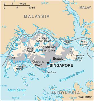 La plus grande île de la République de Singapour est Pulau Ujong, elle compte 5 millions d'habitants. Pourtant, combien de fois est-elle plus petite que la Corse ?
