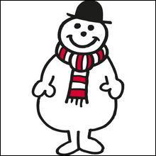 Je suis un bonhomme de neige. Le père Noël me donne la vie chaque fois qu'il porte des cadeaux aux enfants. Alors, je deviens :