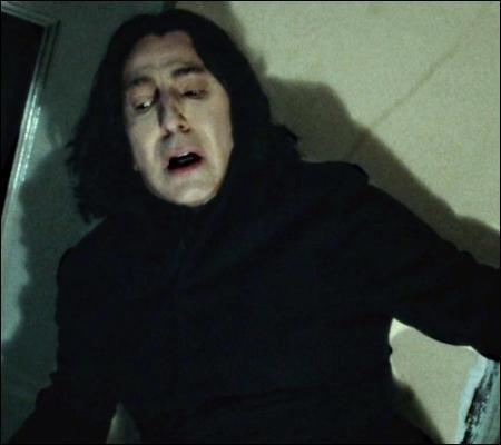 """""""L'instant d'après, Rogue était à genoux dans l'ancienne chambre de Sirius. Des larmes coulaient au bout de son nez crochu tandis qu'il lisait la vieille lettre de Lily. La deuxième page ne comportait que quelques mots :"""