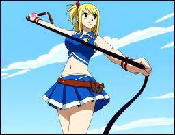 On voit Lucy Heartfilia dans l'animé célèbre intitulé 'Fairy Tail'.