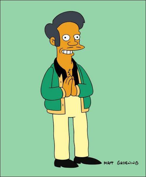 Comment se nomme ce personnage ? Un indice, son prénom est Apu...