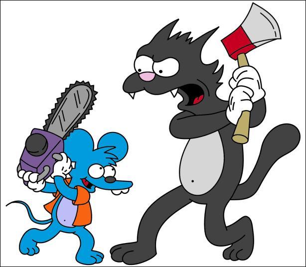 Comment s'appelle le chien dont Homer faisait la voix dans  Itchy et Scratchy  ?