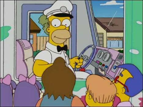 Dans l'épisode où Homer devient vendeur de glaces, qu'est-ce que Marge lui construit pour prouver son amour ?