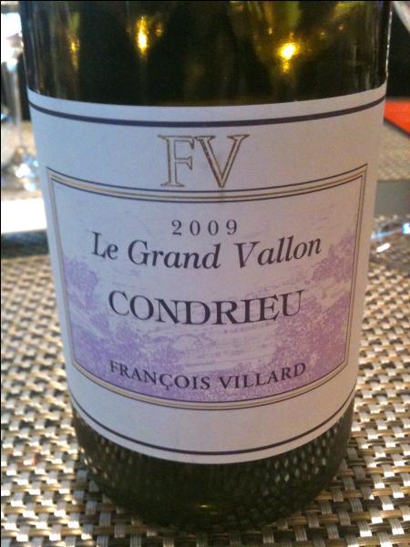 Le Condrieu était un excellent vin :