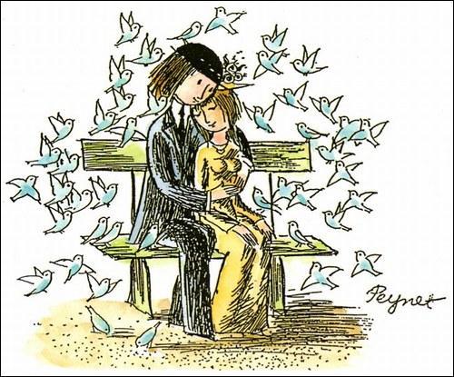 Quelle chanson Georges Brassens a-t-il écrite en référence aux 'Amoureux' ? Un lien existe pour regarder le clip !