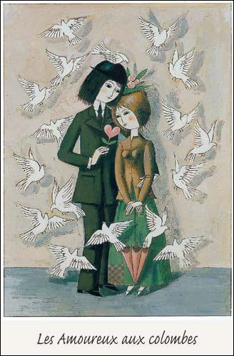 Les amoureux sont accompagnés d'oiseaux. Qu'évoquent-ils ?