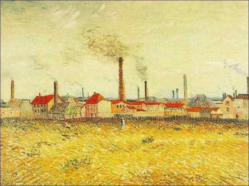 Au printemps 1887, il explore les faubourgs et les bords de la Seine. En peignant aux côtés de Paul Signac, sa touche se fait plus légère, comme l'atteste cette toile représentant des usines à...