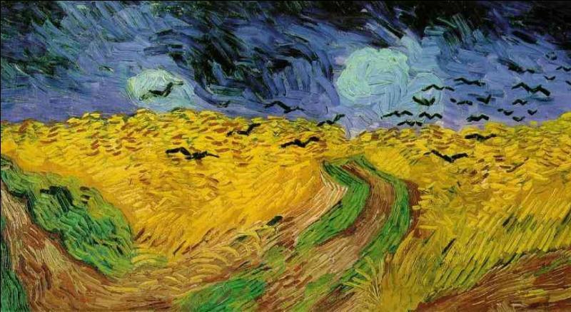 Dans sa courte vie d'artiste, Vincent Van Gogh a produit plus de 2000 oeuvres dont environ 900 tableaux et 1100 dessins. Cette oeuvre peinte en juillet est considérée comme la dernière avant sa mort. Quel en est le titre ?