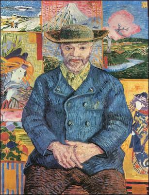 Dès cette époque, il exécute de nombreuses toiles, dont ce portrait du   Père Tanguy  . Qui était Julien-François Tanguy dit   Le Père Tanguy  ?