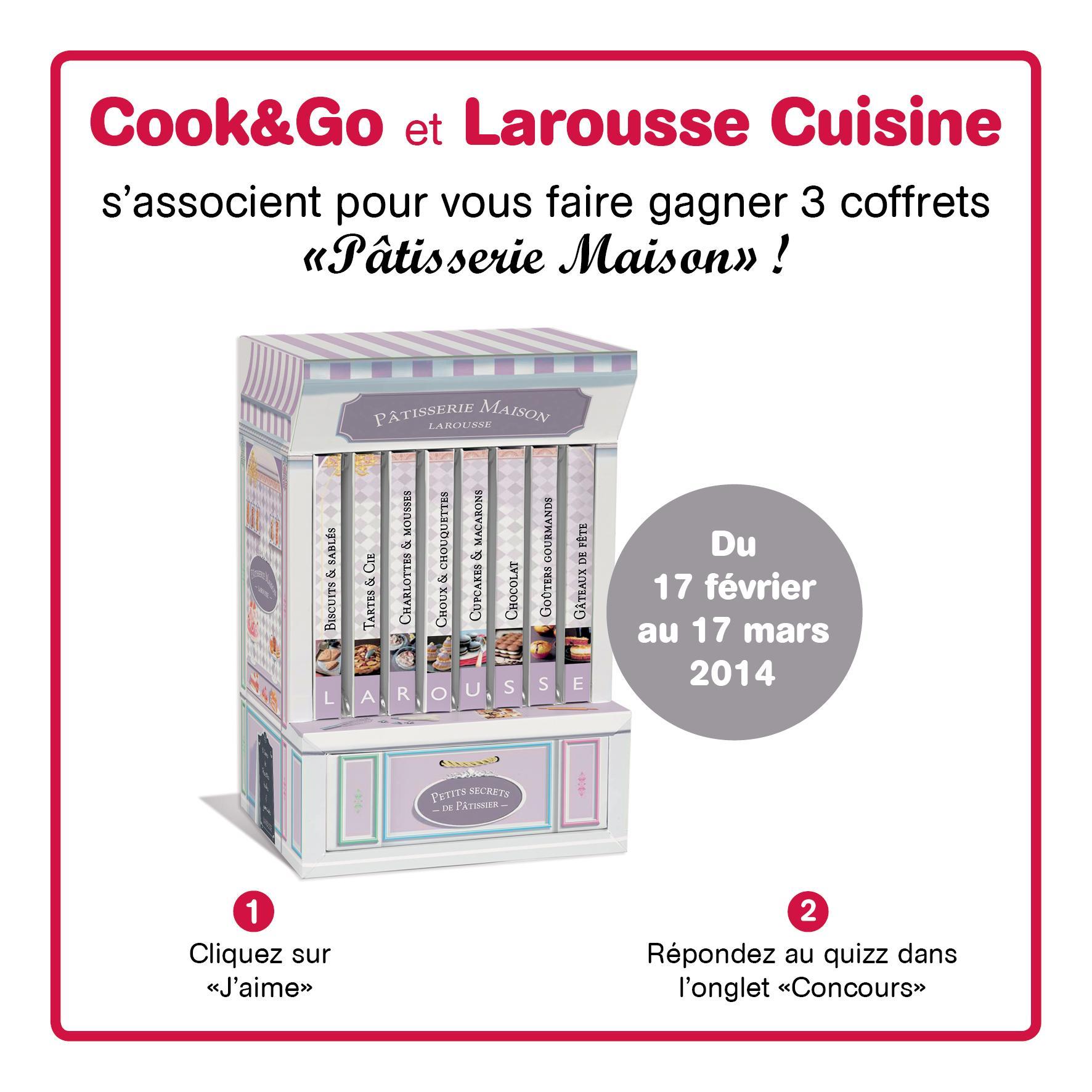 Tentez de remporter un coffret 'Pâtisserie Maison' avec Cook&Go et Larousse Cuisine