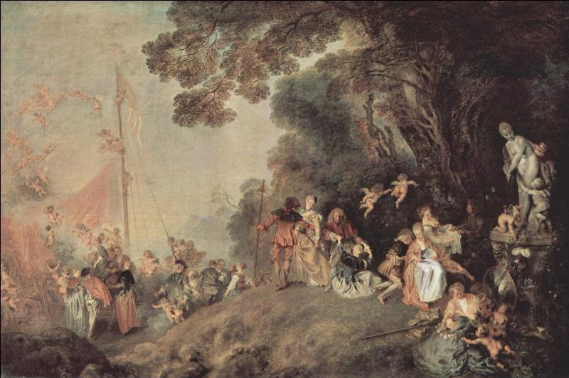 Qui a peint  L'Embarquement pour l'île de Cyhtère  ?