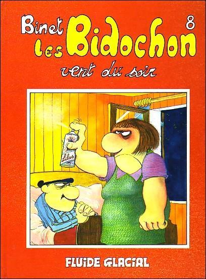 Vent du soir  est le huitième tome de la série  Les Bidochon  en bandes dessinées. Lui s'appelle Robert, et elle c'est :