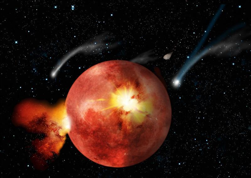 Oublions l'histoire de l'homme et intéressons-nous à l'histoire de notre planète. Que s'est-il passé, il y a 4. 5 milliards d'années environ ?
