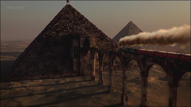 Qu'y a-t-il d'inscrit sur la pyramide ? (Le mariage de River Song )