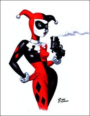 La folle amoureuse du Joker, amatrice des armes à feu, voici Harley Quinn connue aussi sous le nom de :