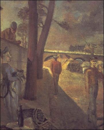 Né à Paris, mort en Suisse où il vivait, ce peintre est toujours resté dans le style figuratif, à une époque où beaucoup d'autres se tournaient vers l'art abstrait. Il peint  Les Quais  en 1929. Qui est-il ?